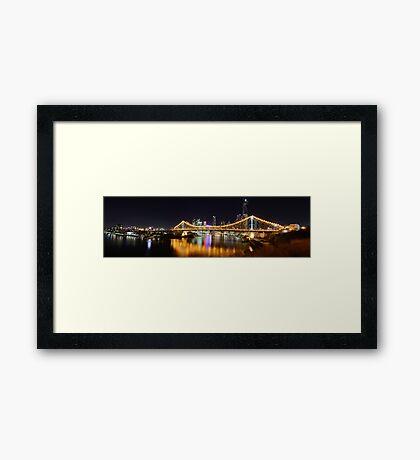Brisbane City Panorama Framed Print