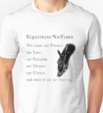 Equestrian YouTuber Unisex T-Shirt