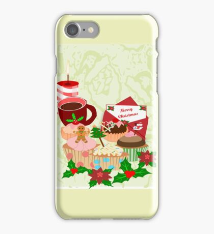 Christmas Cup Cakes (2811 Views) iPhone Case/Skin