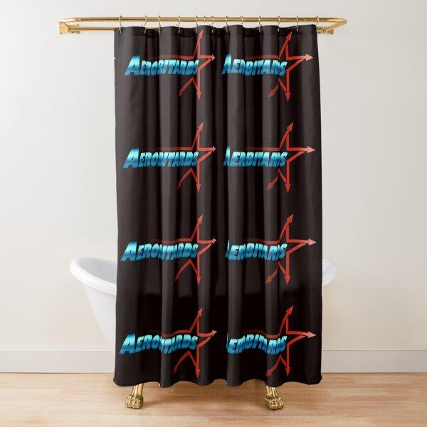 AEROBITARD Verbiage Logo Shower Curtain