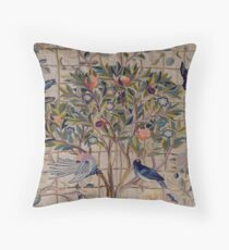 William Morris Kelmscott Trellis Embroidery Throw Pillow