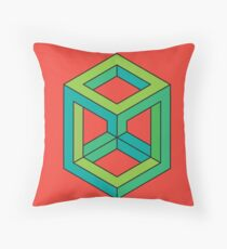 Impossible Shapes: Cube Throw Pillow