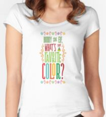 Buddy the Elf - What's Your Favorite Color? Women's Fitted Scoop T-Shirt
