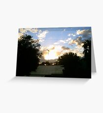 Sunset Rooftop Greeting Card