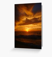 Sunset Surfers Greeting Card