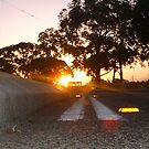 Sunset Railway Road Two by Robert Phillips