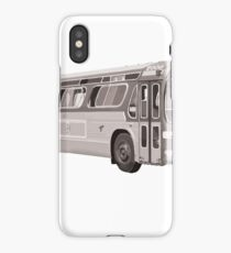 Montreal vintage bus 60's iPhone Case