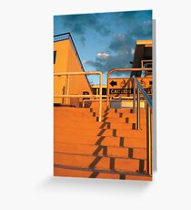 North Cottesloe Steps At Sunset Greeting Card
