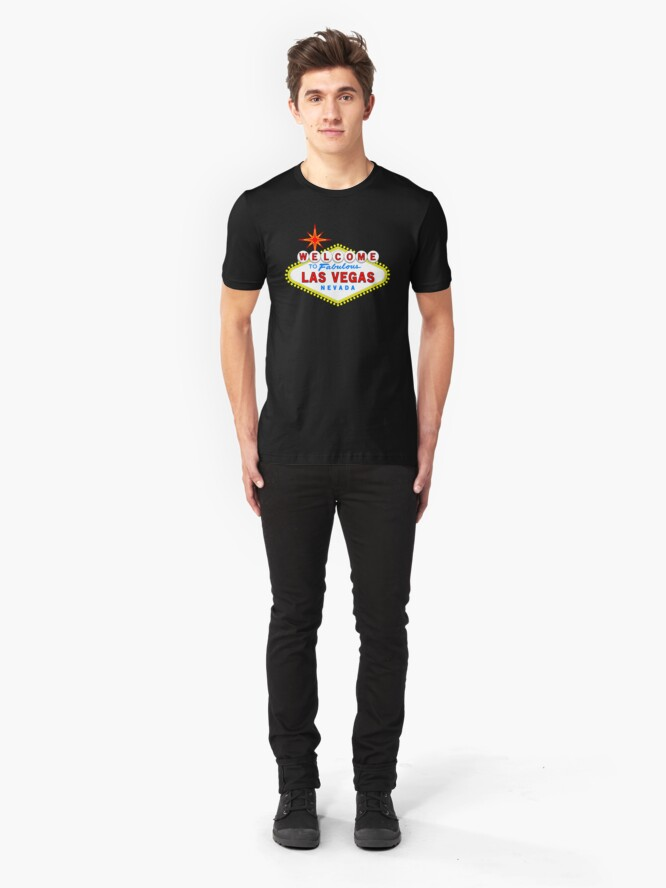 Alternate view of Welcome to Fabulous Las Vegas Slim Fit T-Shirt