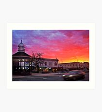 WInter Sunrise, Ballarat Art Print