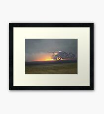 Mad Mike, mid-drift. Framed Print