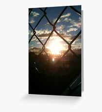 through the wire Greeting Card