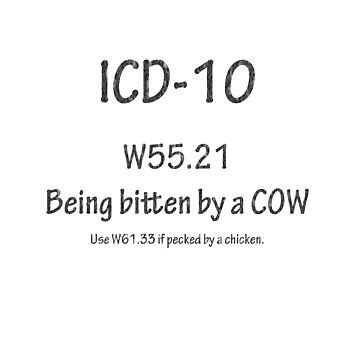 ICD-10:  Bitten by a cow by Shutterbug-csg
