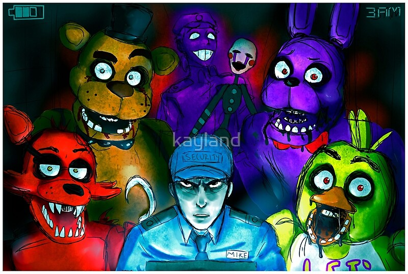 """""""Five Nights At Freddy's With Security Guard, Purple Guy"""