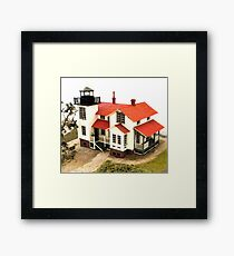 """""""Old Point San Luis Lighthouse - Scale Model"""" Framed Print"""