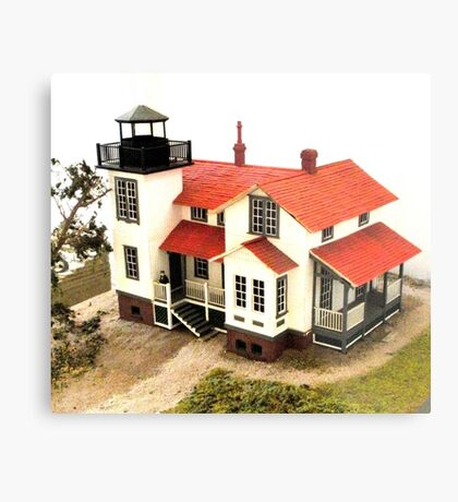 """""""Old Point San Luis Lighthouse - Scale Model"""" Metal Print"""