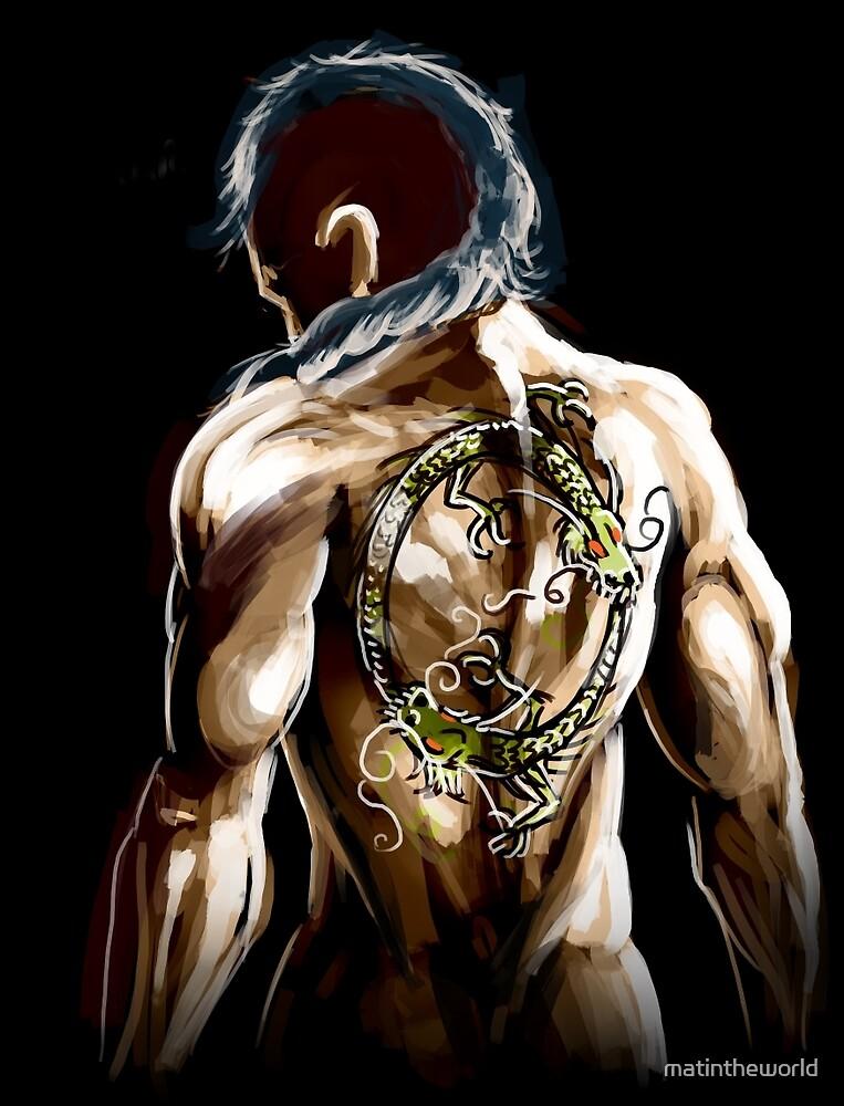 warrior dragon tattoo by matintheworld