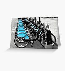 Boris Bikes, London, UK Greeting Card