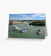 Portpatrick harbour. Greeting Card