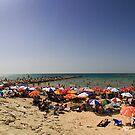 Beaches of Tel Aviv Panorama by Zohar Lindenbaum
