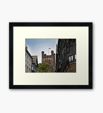 Chester Cathedral and Buildings Framed Print