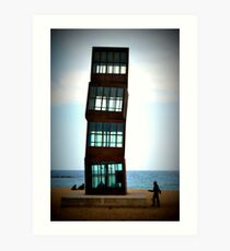 Twisted building Art Print