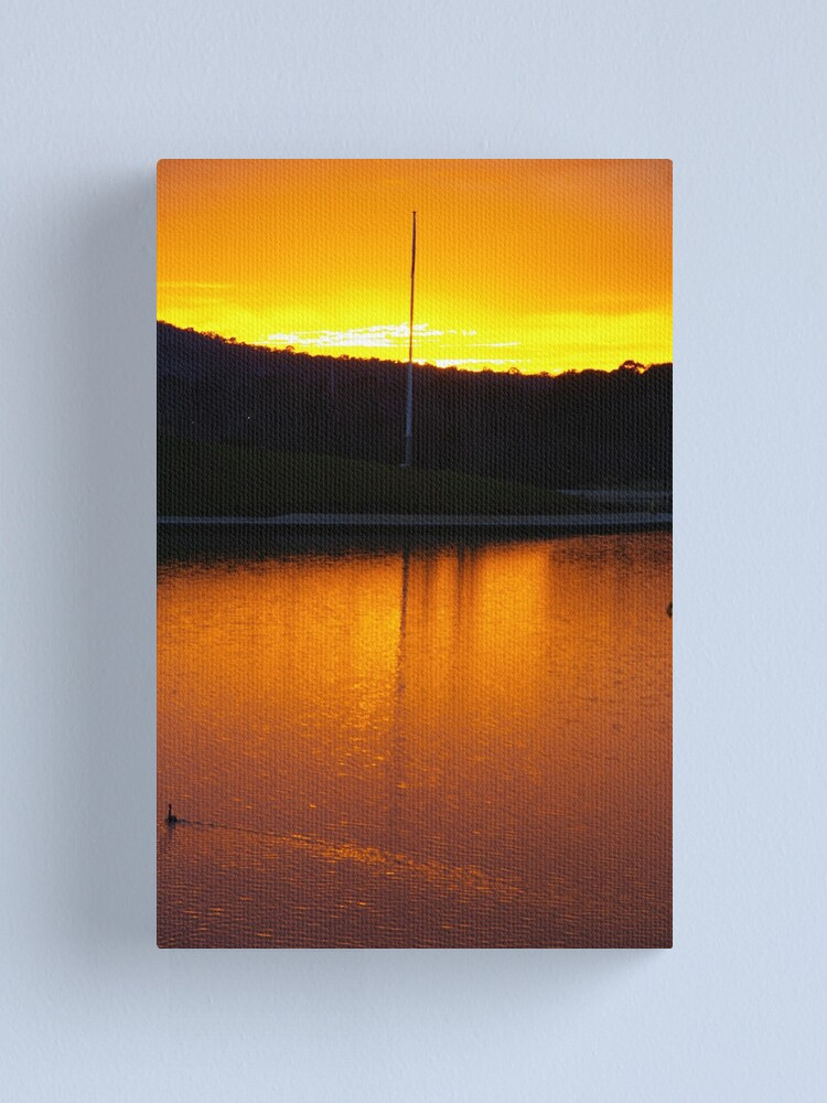 Alternate view of Serenity In Gold Canvas Print