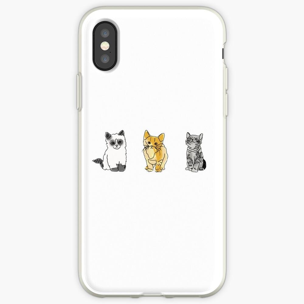 Katze Tumblr Zeichnungen iPhone-Hüllen & Cover