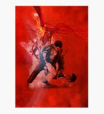 Brazilian Jiu Jitsu Fire Photographic Print