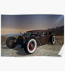 1929 Ford Model A Sedan Rat Rod Poster