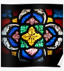 Stained Glass Flourishes Poster
