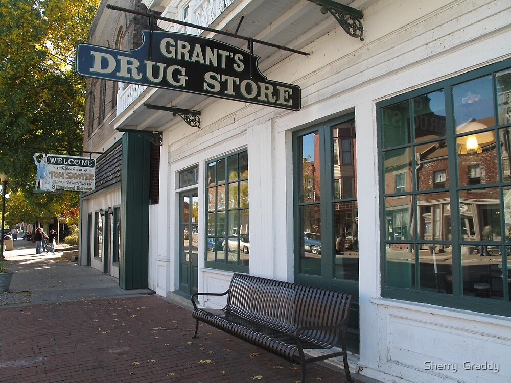 Grant's Drug Store Old Town Hannibal, MO  by Sherry  Graddy