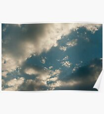Summer Day Stormy Sky Poster