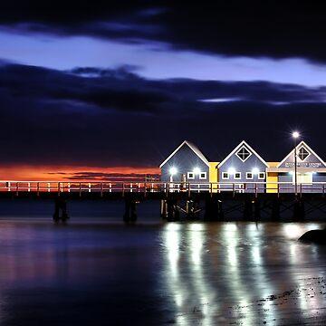 Sunrise - Busselton Jetty, Western Australia by Malleescapes