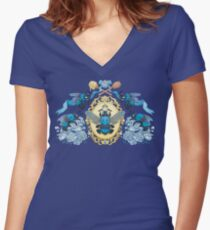 Royal Honey Women's Fitted V-Neck T-Shirt