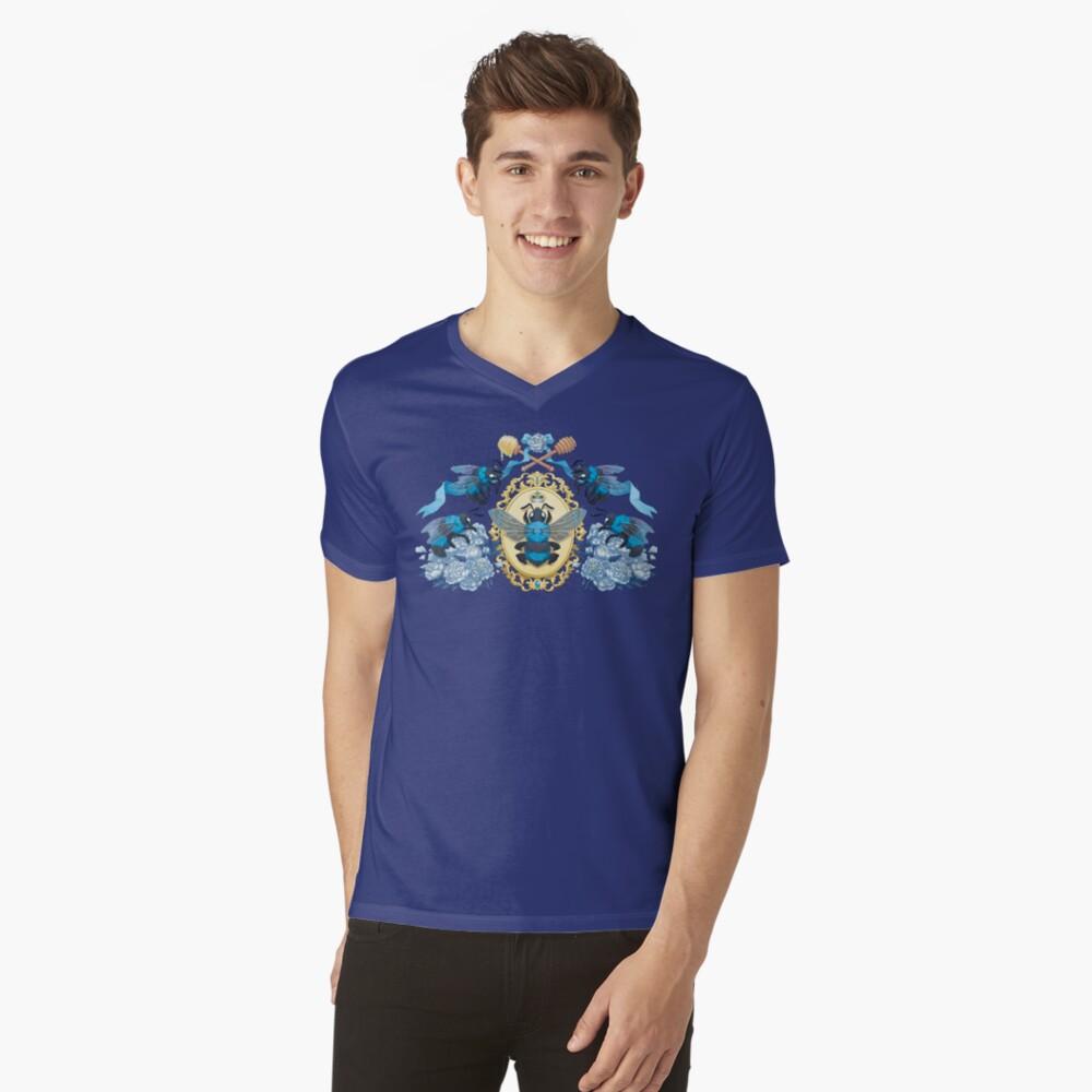 Königlicher Honig T-Shirt mit V-Ausschnitt