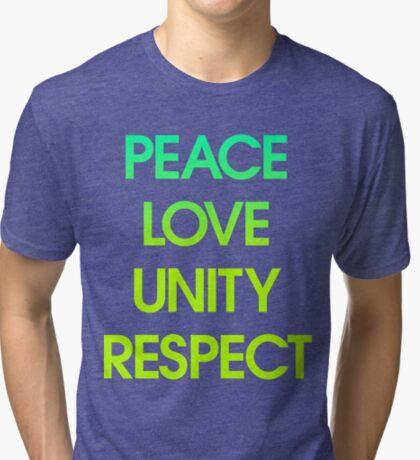 Peace Love Unity Respect (PLUR) Tri-blend T-Shirt