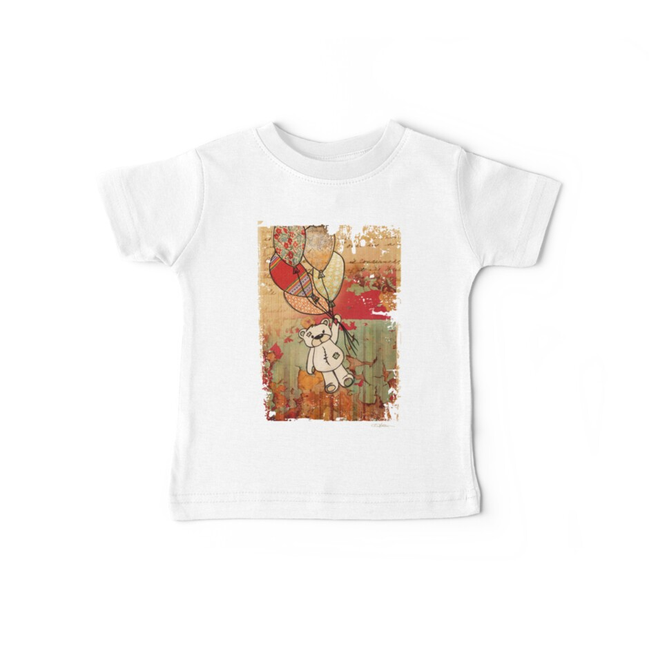 Patch Bear Tee by Narelle Craven