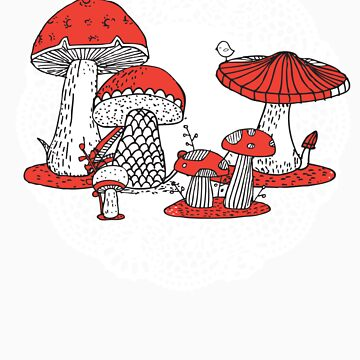 Vintage Toadstools by Narelle