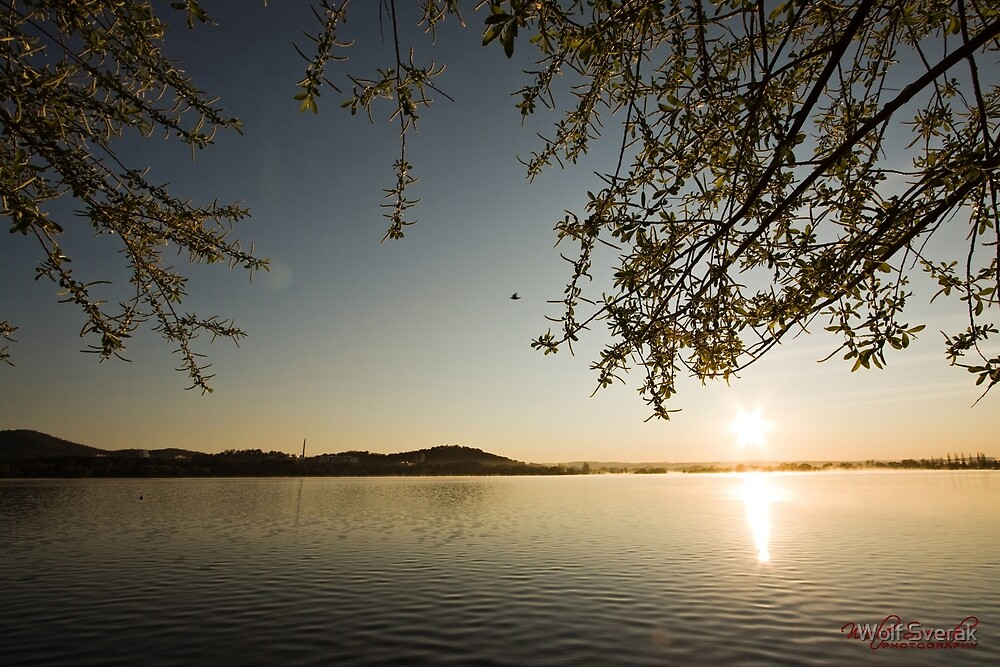 Sunrise at Lake Burley Griffin in Canberra/ACT/Australia (11) by Wolf Sverak