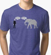 Silence vs. Elephant Tri-blend T-Shirt