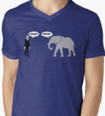 Silence vs. Elephant Men's V-Neck T-Shirt