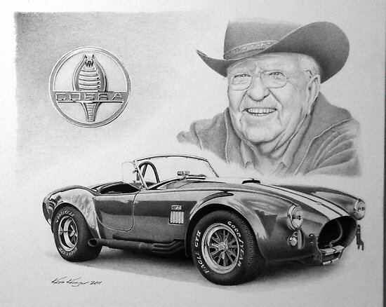 u0026quot;Carroll Shelby u0026quot; Posters by Kevin Krueger : Redbubble