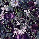 Rose Garden - Night II  by Burcu Korkmazyurek