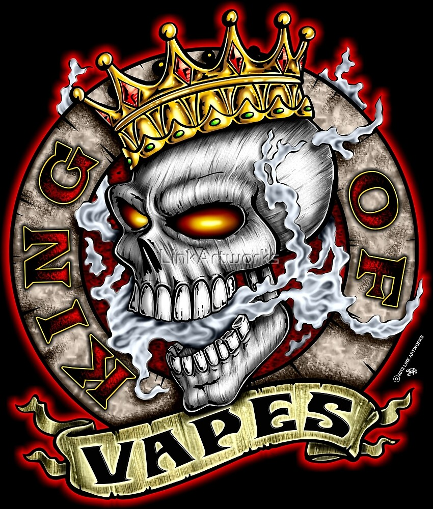 King Of Vapes (Skull With Crown) by LinkArtworks