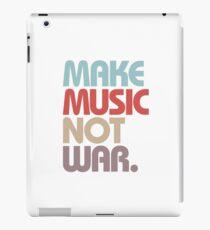 Make Music Not War (Vintage) iPad Case/Skin