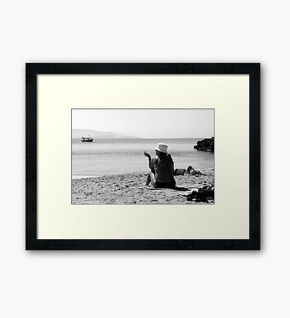 Sun, Sand and Smoke Framed Print