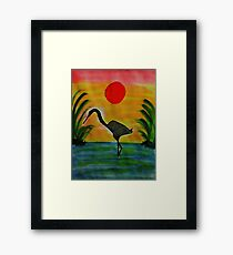 Sentinial, Bird series, watercolor Framed Print
