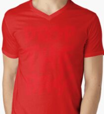 Drop The Bass (Red) Mens V-Neck T-Shirt