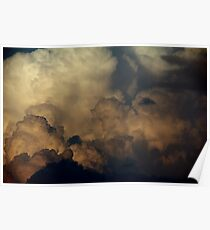Puffy Clouds Poster